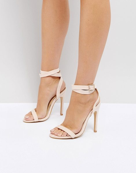 Truffle Collection barely there sandals in nudemicro