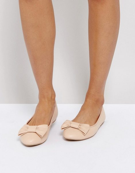 TRUFFLE COLLECTION Bow Ballerina - Shoes by Truffle, Faux-leather upper, Slip-on design,...