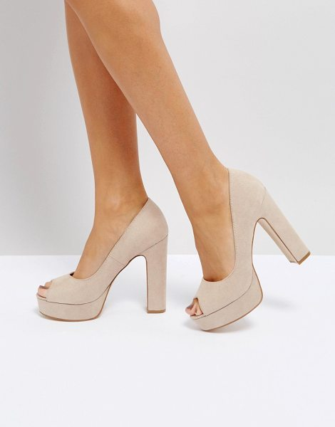 "TRUFFLE COLLECTION Peep Toe Platform Shoe - """"Shoes by Truffle, Faux-suede upper, Slip-on style,..."
