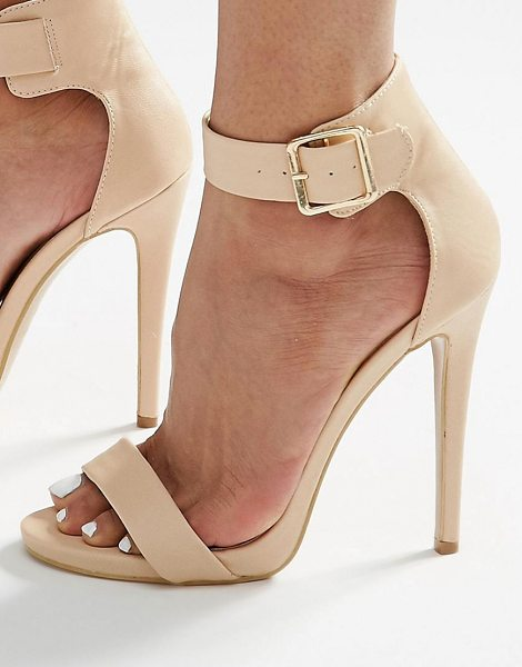 TRUFFLE COLLECTION Truffle Barely There Heeled Sandals - Shoes by Truffle, Textile upper, Ankle-strap fastening,...