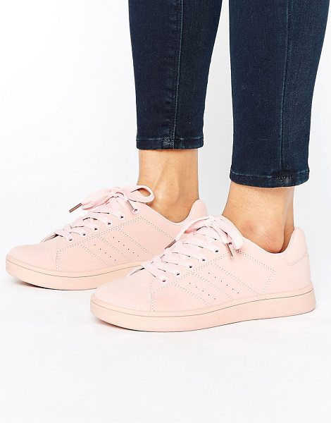 Truffle Collection Truffle Color Drench Sneaker in pink - Shoes by Truffle, Faux-leather upper, Lace-up fastening,...