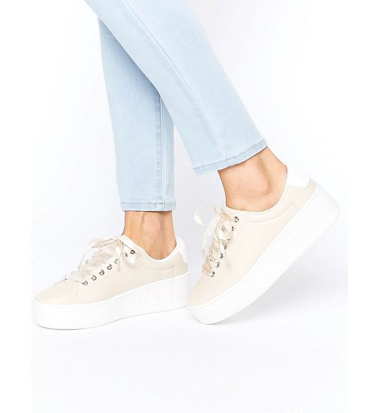 """TRUFFLE COLLECTION Truffle Hell Yeah Flatform Sneakers - """"""""Shoes by Truffle, Faux-leather upper, Lace-up..."""