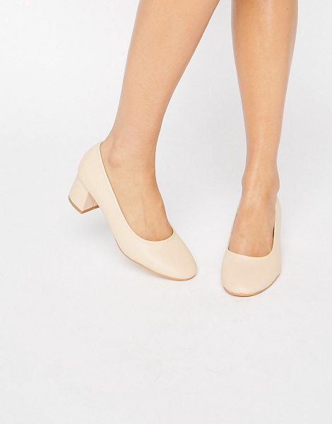TRUFFLE COLLECTION Truffle Kitten heel Glove Shoe in beige - Shoes by Truffle, Leather-look upper, Slip-on design,...