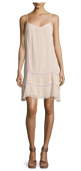 "TRYB Tia Chiffon Dobby Short Dress - TRYB 212 ""Tia"" dress in sheer chiffon dobby with..."
