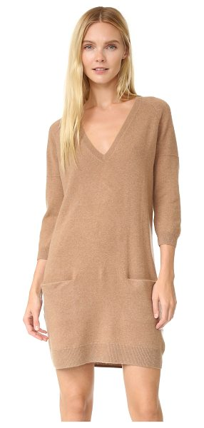 TSE Cashmere Tse Cashmere Claudia Schiffer X Tse V-Neck Dress With Pockets in mocha - A luxe Claudia Schiffer x TSE Cashmere sweater dress...