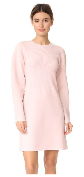 TSE Cashmere crew neck dress in haze - This dense, double-knit TSE Cashmere sweater has a...