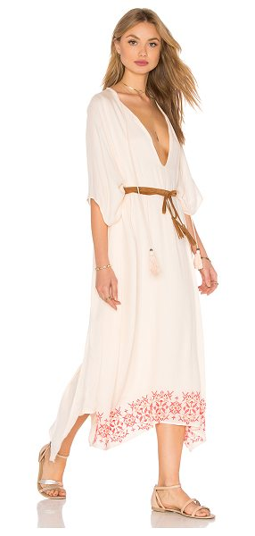 TT BEACH Harley Kaftan in blush - 100% viscose. Hand wash cold. Partially lined....