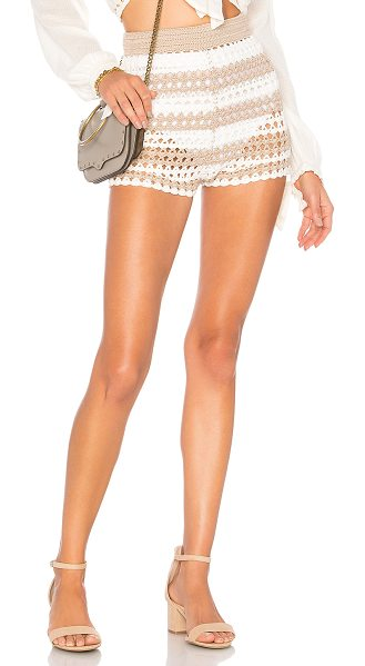 "Tularosa Alison Short in tan - ""60% rayon 40% cotton. Hand wash cold. Elasticized..."