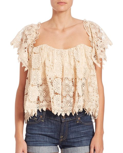 Tularosa amelia crop top in eggshell