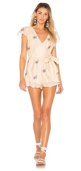 """TULAROSA Ashby Romper - """"Charm and confidence lingers with you in the Ashby..."""