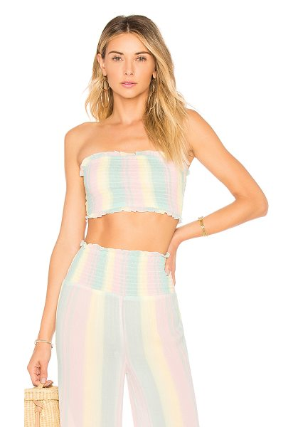 Tularosa Ava Crop in pink - Frolicking in the desert sun is easy breezy courtesy of...