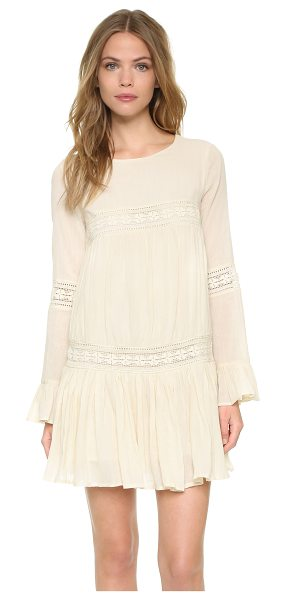 Tularosa Berkley dress in natural - Tonal lace trim lends vintage charm to this drop waist...