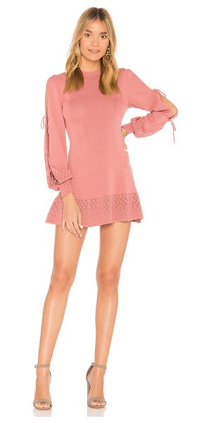 Tularosa Claire Dress in rose - Cut with curve hugging knit, Tularosa Claire Dress forms...