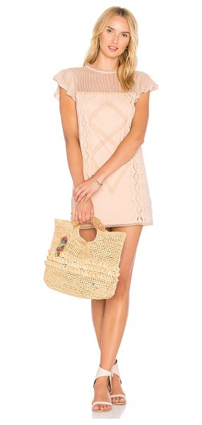 Tularosa Clayton Dress in peach - When staying in is not an option. Shaped by a sweet...