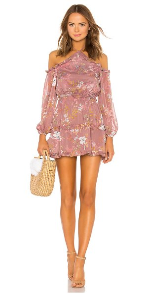 Tularosa Donna Dress in mauve - Romantic mauve shades Tularosa's Donna Dress with...