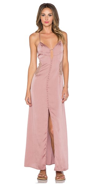 Tularosa Genevieve slip dress in rose - Poly blend. Dry clean only. Unlined. Decorative front...