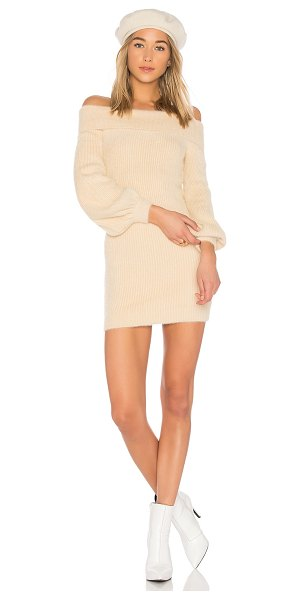 Tularosa Gramercy Dress in cream - Nothing beats a sweater dress when you're feeling the...
