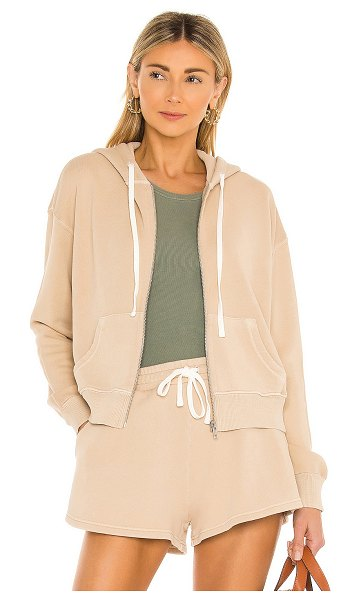 Tularosa green the gaia zip up hoodie in almond