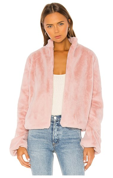 Tularosa inori faux fur jacket in blush pink