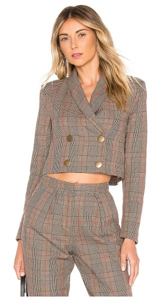 Tularosa kendra jacket in classic brown plaid