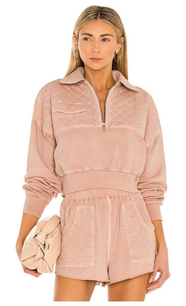 Tularosa lima quilted jacket in light mauve