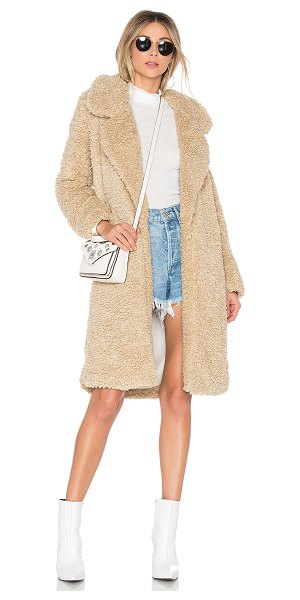 Tularosa Long Violet Coat in cream - Chase away the chills with Tularosa?s Long Violet Coat....