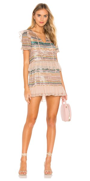 Tularosa mason dress in pink multi