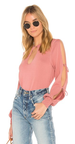 Tularosa Melissa Top in rose - A knit that?s ready to make a statement: Tularosa...