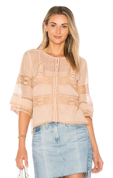 TULAROSA Neil Top - The allure of this summer is defined by lace, breezy...