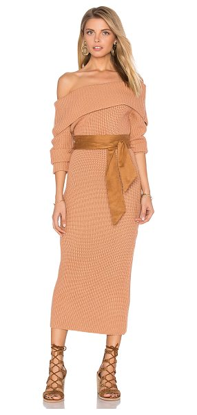 Tularosa Pia Knit Dress in rose - Keeping cozy while showing some skin. The Tularosa Pia...