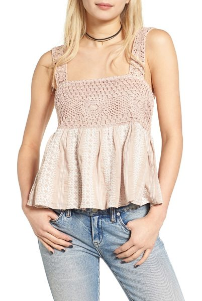 Tularosa sana tank in french mauve - Crocheted to fit just right, ruffled to keep the boho...