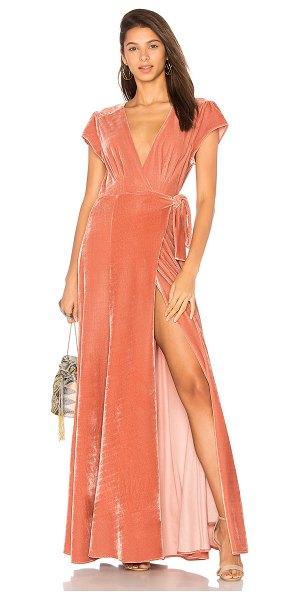 Tularosa Sid Wrap Dress in rose - Charismatic intentions light up in the Sid Dress by...