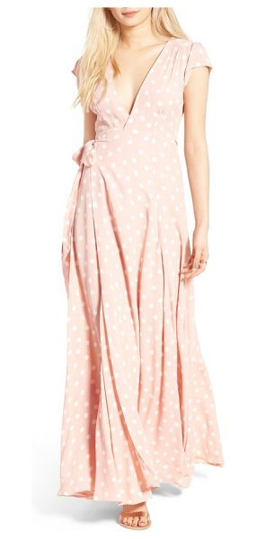 TULAROSA sid wrap maxi dress - Revel in the lush fullness of the swishy skirt flowing...