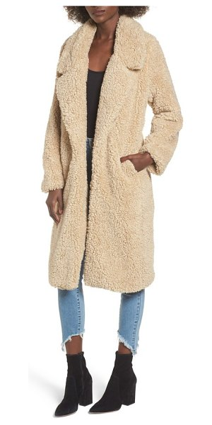 Tularosa violet teddy bear coat in beige