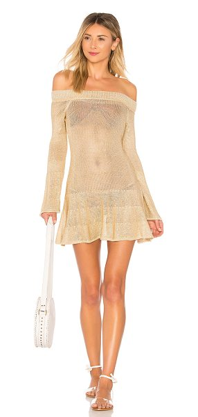 Tularosa Wendy Dress in metallic gold - Incorporate a bit of metallic into your vacation edit....