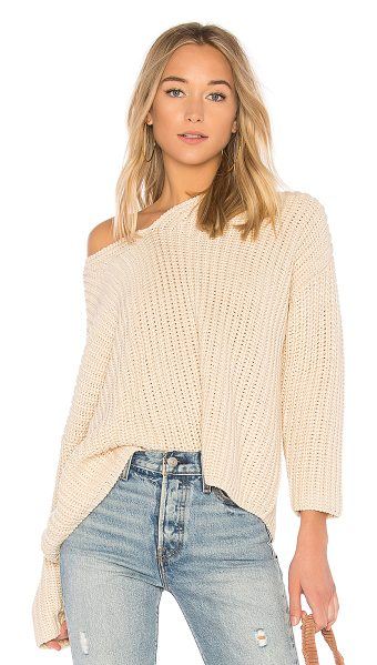 Tularosa x REVOLVE Adams Sweater in cream - A cozy knit is what your night in the city calls for....