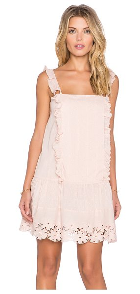 Tularosa X revolve annabel ruffle dress in pink - Cotton blend. Hand wash cold. Fully lined. Ruffle...