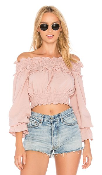 TULAROSA Cindy Top - Flaunt those abs and shoulders in the Cindy Top designed...