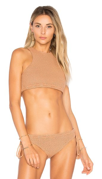 Tularosa x REVOLVE Corin Top in nude - Go from the beach to the boardwalk without a hitch in...