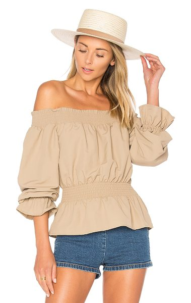 Tularosa x REVOLVE Katie Blouse in nude - Bare those shoulders this warm weather season in the...