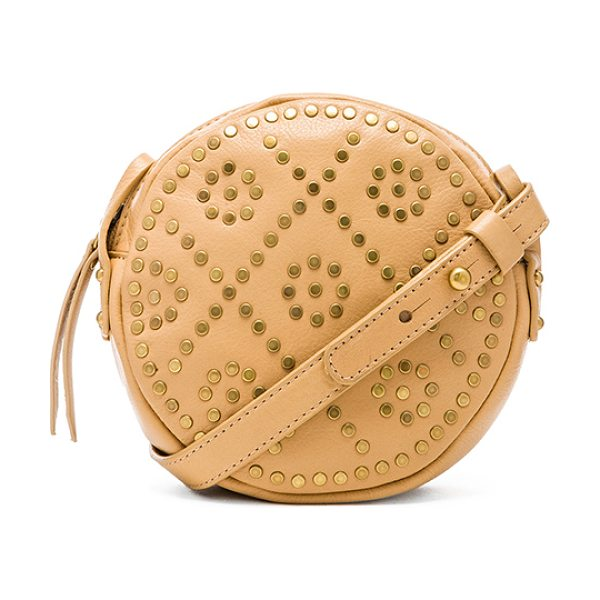 Twelfth St. by Cynthia Vincent Binge crossbody in beige - Leather exterior with printed fabric lining. Measures...