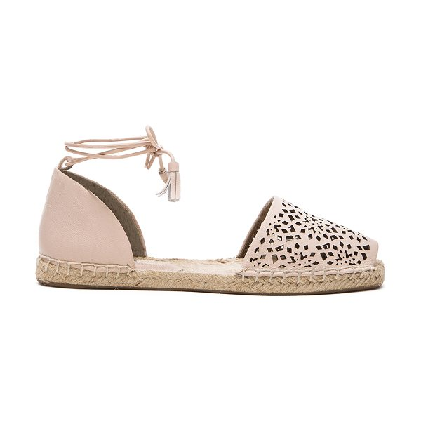 Twelfth St. by Cynthia Vincent Farie flat in beige - Leather upper with jute and rubber sole. Laser cut-out...
