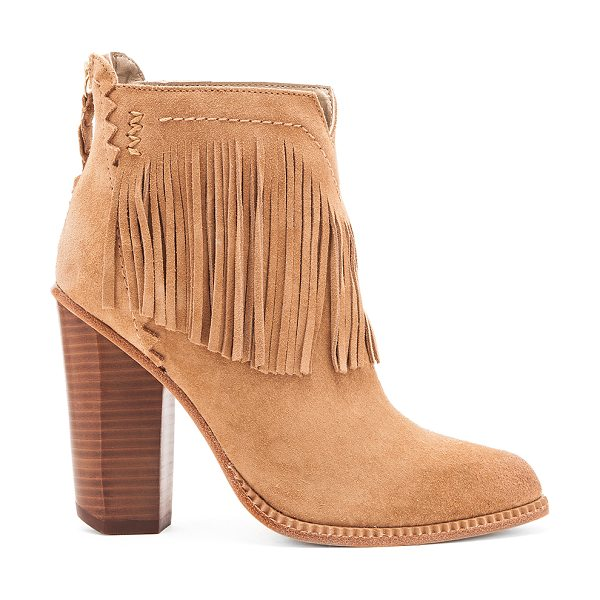 TWELFTH ST. BY CYNTHIA VINCENT Native bootie - Suede upper with leather sole. Fringe accent. Back zip...