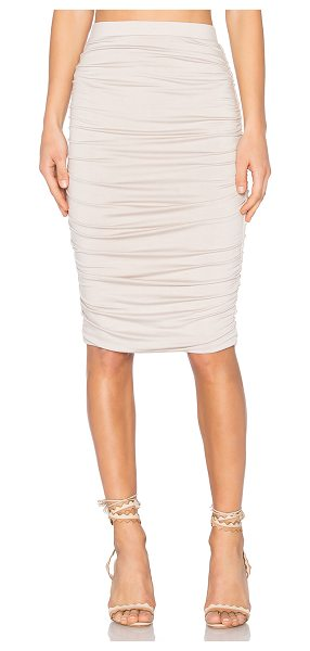 TWENTY Superior Midi Skirt - 96% modal 4% spandex. Hand wash cold. Fully lined....