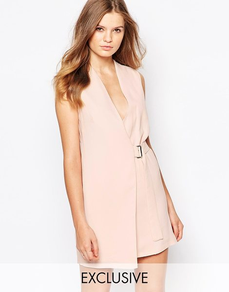 Twin Sister Mini wrap dress with buckle in pink - Dress by Twin Sister, Woven fabric, Wrap front,...