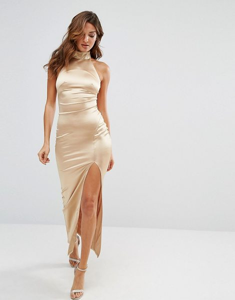 Twin Sister Sateen Maxi Dress in gold - Maxi dress by Twin Sister, Smooth silky-feel fabric,...
