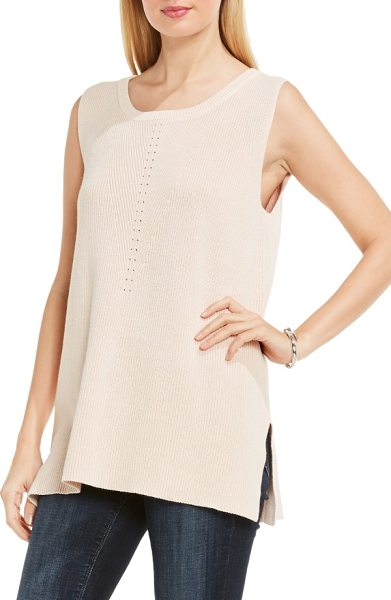 Two by Vince Camuto rib knit tunic in coral sand - Simple but sophisticated, this knit tunic features a...