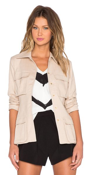 TY-LR The ardent jacket in beige - Cotton blend. Dry clean only. Button front closure....