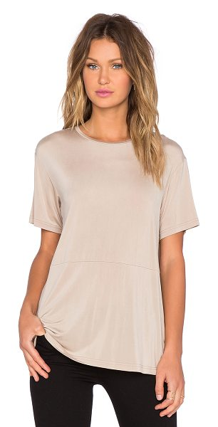 TY-LR The base tee in beige - 94% curpo 6% spandex. Hand wash cold. TYLR-WS11. WX1508431T.