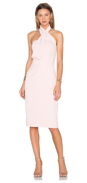 TY-LR The Cali Dress in pink - Viscose blend. Dry clean only. Fully lined. Plastic...